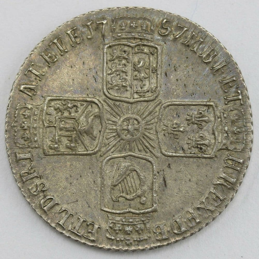 1757 George II .925 Sterling Silver 6d Sixpence Lot E